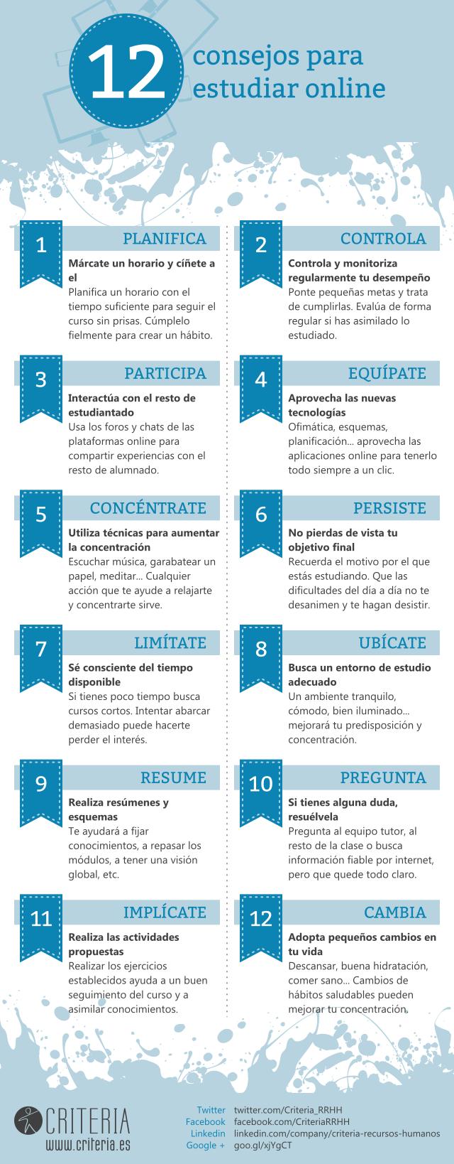 12 consejos para estudiar online